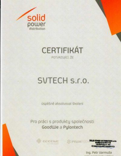 Certifikát GoodWe a Pylontech