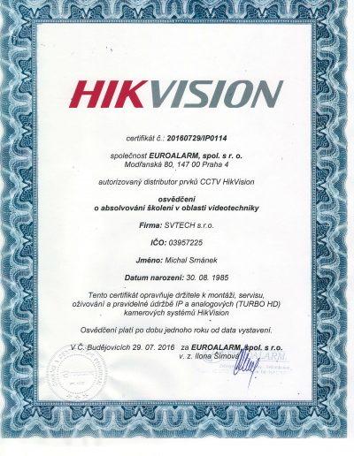 Certifikace HIKVISION